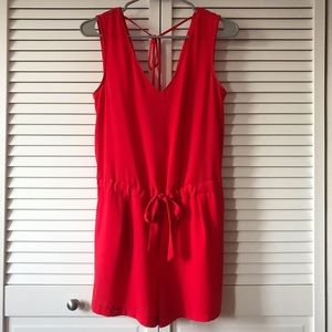 Zara Basic Red Romper Size XS